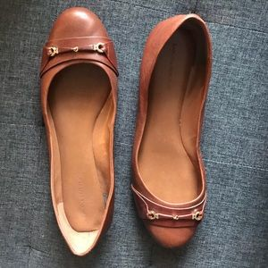 Banana Republic 💁🏻‍♀️✨Cognac Brown Leather Flats